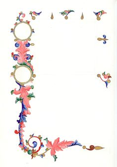 medieval illuminated borders - Google Search Illuminated Letters, Illuminated Manuscript, Illumination Art, Frame Background, All Craft, Caligraphy, Border Design, Pattern Art, Hand Lettering