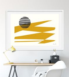 Large Printable Art, Abstract Art Prints, Yellow Prints, Large Wall Art, Printable Minimal Art, Bedroom Prints, minimalist, instant download by DanHobdayArt on Etsy Yellow Wall Art, Yellow Walls, Yellow Print, Bedroom Prints, Subtle Textures, Scandinavian Modern, Large Wall Art, Home Wall Art, Printable Art