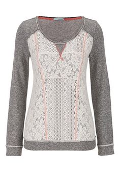 lacy pullover with contrast stitching (original price, $34) available at #Maurices