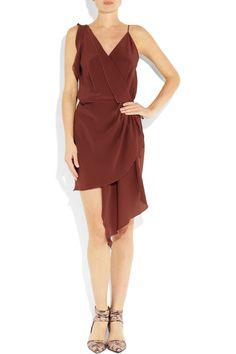 OAK | Silk crepe de chine wrap dress | NET-A-PORTER.COM