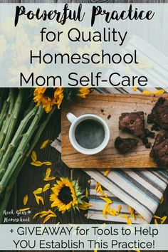 Discover how this powerful daily practice can help you establish quality homeschool mom self-care. Taking little time and supplies, you will find this activity to uplift your spirits and boost your day. Giveaway for two lucky winners to win tools to help establish this practice ends 2/7/17.