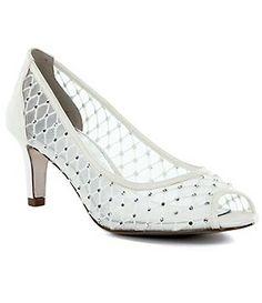 Oh so very Cinderella~ Adrianna Papell Jamie Jeweled Peep-Toe Pumps