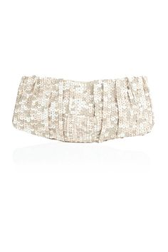 Leather Sequin Clutch