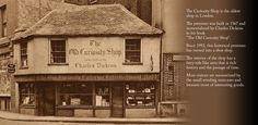 The Old Curiosity Shop, London, England - so interesting to walk through, especially up the stairs to the upper floor.