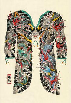 Japanese Tattoos by Horihana: Photo Tebori Tattoo, Hannya Tattoo, Irezumi Tattoos, Japanese Dragon Tattoos, Japanese Tattoo Art, Japanese Sleeve Tattoos, Asia Tattoo, Japan Tattoo, Full Body Tattoo