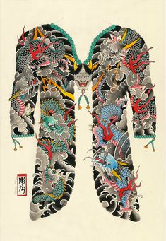 cacautattoo:  Dragons + Hannya