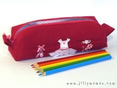 Ballerina Tutu Upcycled TShirt Pencil Case/Pouch by JillyMamas, $15.00