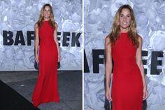 Ohlaleando: mirá lo que se puso Mariana Fabbiani  Lara Bernasconi eligió un vestido rojo y largo. Una elección bien simple y correcta. A veces, menos es más. Foto: Gentileza Prensa