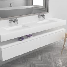 Stunning Corian double washbasin with gradient sink for sleek drainage. Absolutely beautiful. 😍🥂🤩❤️
