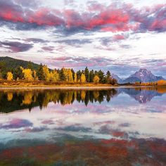 Nothing beats sunrise at Grand Teton #NationalPark in #Wyoming. Josh Packer (@packtography) took this stunning shot from the parks #OxbowBend -- whats not captured in the photo are the sights and sounds he experienced before this moment. Before the sun came up I got to enjoy the elk bugling near Oxbow Bend. Then pink clouds formed over Mt Moran which doesn't happen often making this one of my most memorable experiences at #GrandTeton. Photo @grandtetonnps courtesy of Josh Packer…