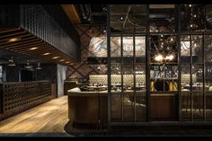 A buffet restaurant dining and gaming hall for members at one of Hong Kong's… Restaurant Interior Design, Cafe Interior, Luxury Interior, Restaurant Interiors, Bar Lounge, Chinese Restaurant, Cafe Restaurant, Restaurant Entrance, Restaurant Ideas