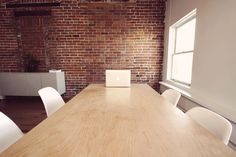 office, desk, table, chairs, business, macbook, laptop, computer, bricks