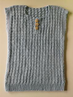 ich-hatte-mal-wieder-eine-weste-am-stiel-diesmal-punktlich-gestrickt/ delivers online tools that help you to stay in control of your personal information and protect your online privacy. Knitting For Kids, Baby Knitting, Crochet Baby, Knit Crochet, Kids Vest, Baby Sweater Patterns, Baby Vest, Vest Pattern, Loose Fitting Tops