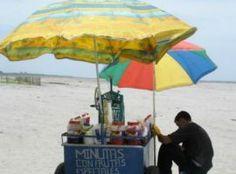 Venta de minutas en la playa