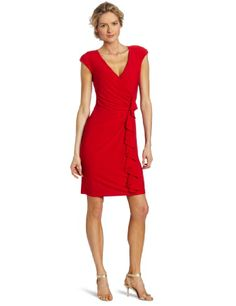 Evan Picone Women's Matte Jersey Side Ruffle DressBeautiful dress, great for desk to dinner flattering silhouette with side cascade detail Click Pic for More Info