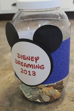 Disney trip change jar - to encourage the boys to save their money Change Jar, Success And Failure, Disney Dreams, Disney Crafts, Disney Trips, Disney Love, Walt Disney World, The Dreamers, Boys
