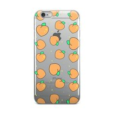 Sparkle peach iphone case #peach #sparkles #seethru #kawaii #aesthetic
