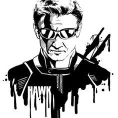 Avengers in Ink: Hawkeye by Rebecca Loomis