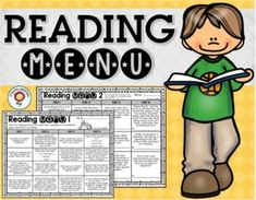 reading menus; reading menu; reading activities; readingLooking for an alternate to the standard reading log? This reading menu set has everything you need to run your reading homework.  There are ten different reading menus included with a variety of options for kids to choose from.