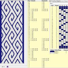 30 tarjetas, 2 colores, repite cada 14 movimientos // sed_210༺❁