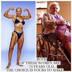 Both of these women are 74 years old ... the choice is yours.