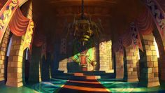 View an image titled 'King Edmund's Court Art' in our Odin Sphere art gallery featuring official character designs, concept art, and promo pictures. Digital Art Fantasy, Fantasy Art, 2d Game Background, Odin Sphere, Character Art, Character Design, Dragons Crown, Fantasy Places, Environment Concept Art