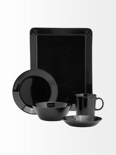 Iittala Teema, i somehow like the black in tableware Own Home, Nespresso, Coffee Maker, Kitchen Appliances, Hardware, Tableware, Black, Coffee Maker Machine, Diy Kitchen Appliances