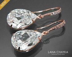 Gold Bridal Earrings, Swarovski Crystal Earrings, Bridesmaid Earrings, Rhinestone Earrings, Crystal Jewelry, Crystal Rhinestone, Wedding Jewelry, Wedding Earrings, Gold Jewelry