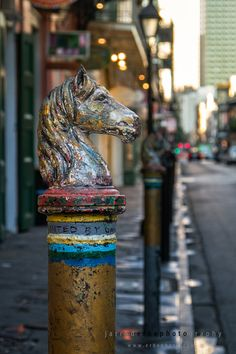 New Orleans Hitching Post  NOLA Decor  Travel Photography