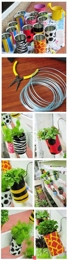 Neat little bins or airplant holders.