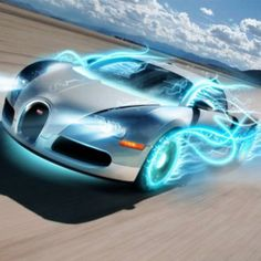 """Bugatti Veyron: Going """"Back to the Future!""""  Art Promo."""