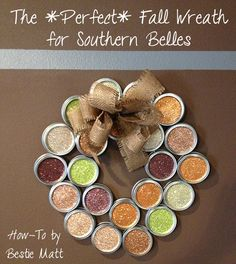 Love this How-To from @Matt Harber! #Fall #Glitter #Thanksgiving #SouthernBelle