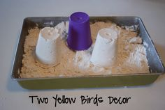 Two Yellow Birds Decor: Weather Experiment & Cloud Dough