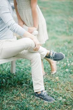 Cute engagement session style