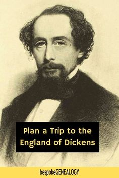 Plan a trip to the England of Dickens. The lock-down will eventually end, so now's a good time to start planning your English travel adventure. If you're a Charles Dickens fan, here are some sites associated with his life that you can visit. #bespokegenealogy #uk #charlesdickens