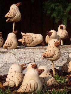 Clay Birds, Ceramic Birds, Ceramic Animals, Clay Animals, Ceramic Pottery, Pottery Sculpture, Bird Sculpture, Clay Projects, Clay Crafts