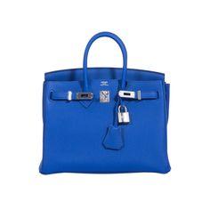 a289c3ff2299 Hermes Birkin 25 Blue Electric Togo Palladium Hardware