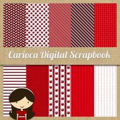 LadyBug Digital Scrapbook Paper