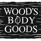 Wood's Body Goods Logo Natural Products, Cool Logo, Wood, Woodwind Instrument, Timber Wood, Trees