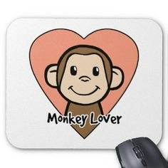 clip art cute putting out the hearts on  fire  | cute_cartoon_clip_art_smile_monkey_love_in_heart_mousepad ...