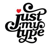 Brand mark for 'Just My Type' range of cards. Influenced by the work of Herb Lubalin❤️