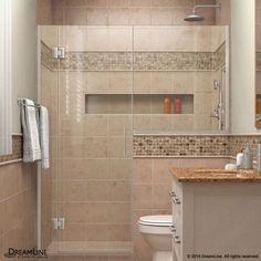 "DreamLine D1283636 Unidoor-X 72"" High x 70-1/2"" Wide Hinged Frameless Shower Enc Brushed Nickel Showers Shower Doors Hinged"