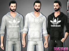 The Sims Resource: 287 - Athletic sweatshirt • Sims 4 Downloads