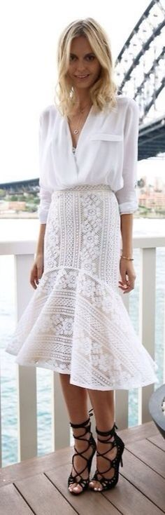 White Summer Chic Style                                                                                                                                                                                 More