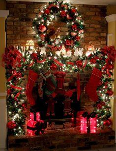 Décorer la cheminée pour Noel! Voici 20 idées pour vous inspirer…