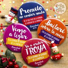¿Ya tenéis fecha para la comida de Navidad del trabajo? Pues nuestras chapas son el complemento perfecto! Personaliza las tuyas ya! http://yosoytuchapa.com/especial-navidad/28-cena-de-empresa.html