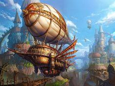 Gorgeous Steampunk Fantasy Art by YAN CAN on DrawCrowd.com #Steampunk #Fantasy…