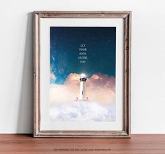 Let Your Soul Guide You, Printable Wall Art, Lighthouse Print, Lighthouse Poster, Lighthouse Art, Motivational Poster, Motivational Quote