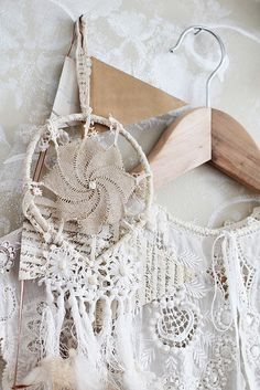lace dream catcher  via daydreamer