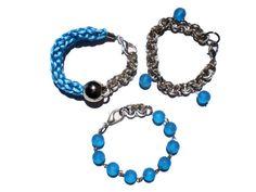 Blue Layered Bracelets Stackable Bracelets in by twolittlefairies